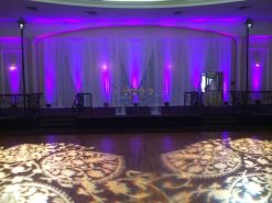 Wedding Ceremony backdrop draping Baghramian Hall Montebello CA