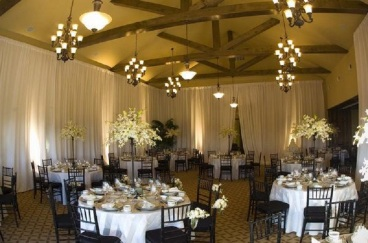 Pipe and Draping /Wedding banquet hall wall draping and up lighting los angeles
