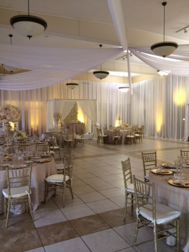 Wedding fabric decor Los Angeles