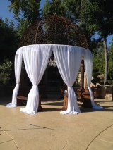 Wedding Gazebo Draping West Lake Village Inn