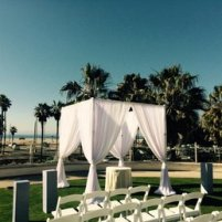 Wedding draping gazebo for ceremony
