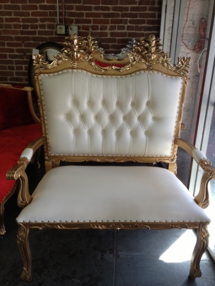 Gold French Love Seat