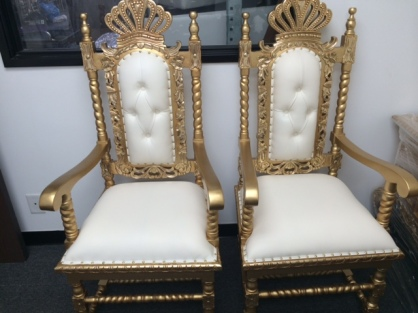 Gold Queen Throne Chairs