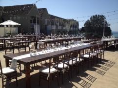 Farm Tables and Mahogany chiavari chairs L'Auberge Del Mar