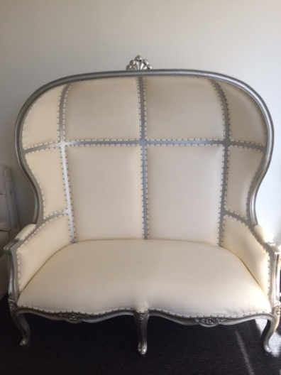 Silver Canopy Style Love Seat