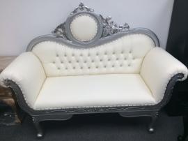 Silver Love Seat